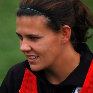 Women's soccer team captain, Christine Sinclair.