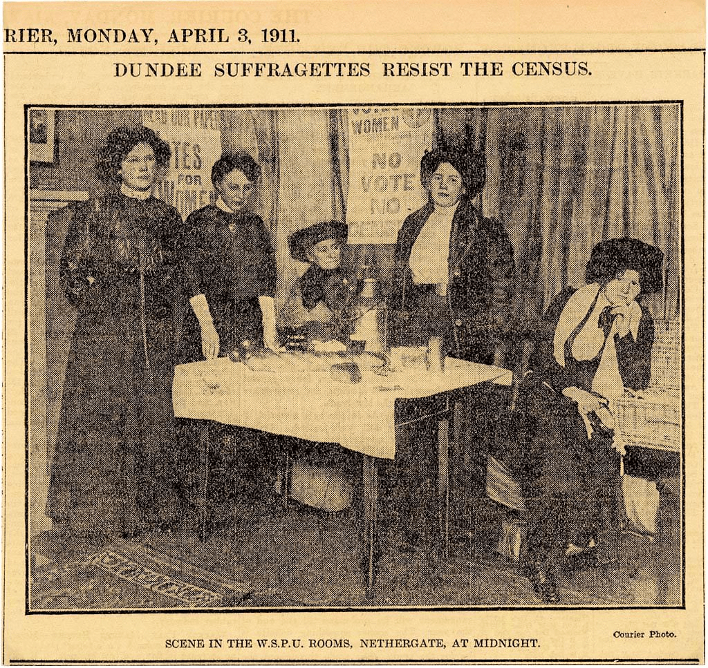 Dundee Suffragettes Resist the Census