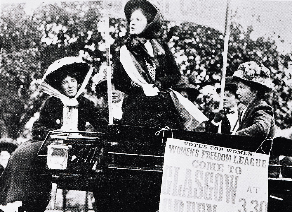Women's Freedom League demonstration on Glasgow Green 1914