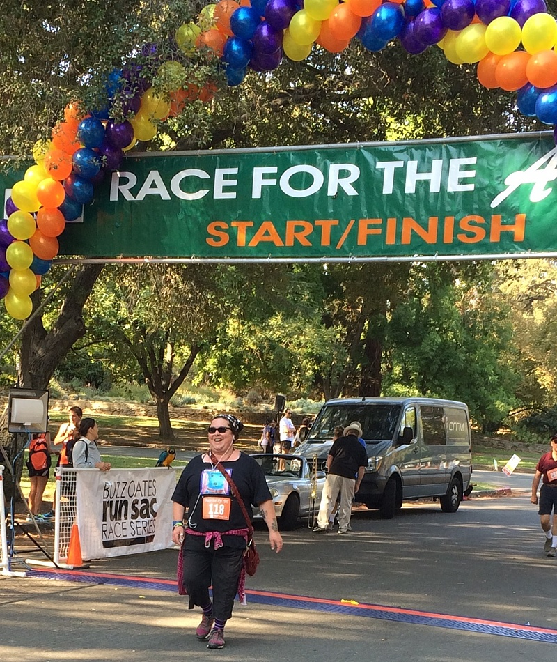 Our own Steff at the Finish Line!