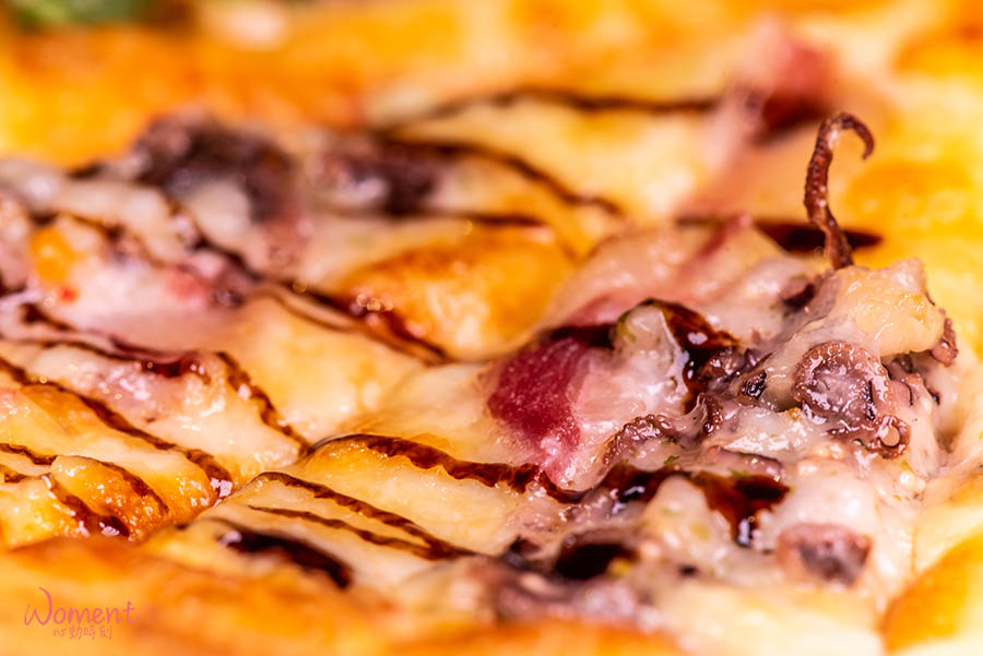 淡水輕軌美食-義米蘭-章魚pizza