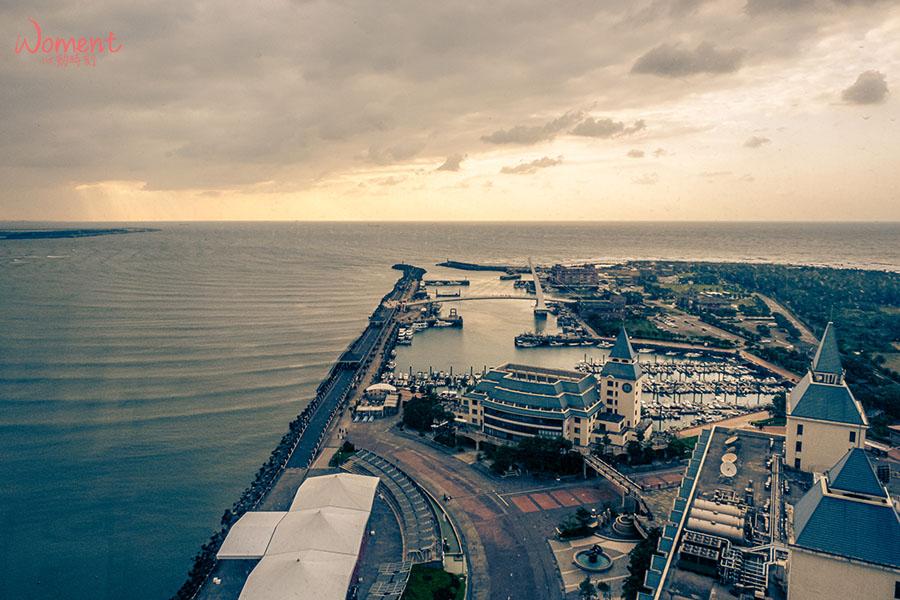 淡海輕軌藍海線-情人塔搭乘看夕陽