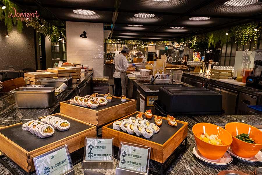 蔬食素食餐廳-吃到飽推薦果然匯 - 壽司口味