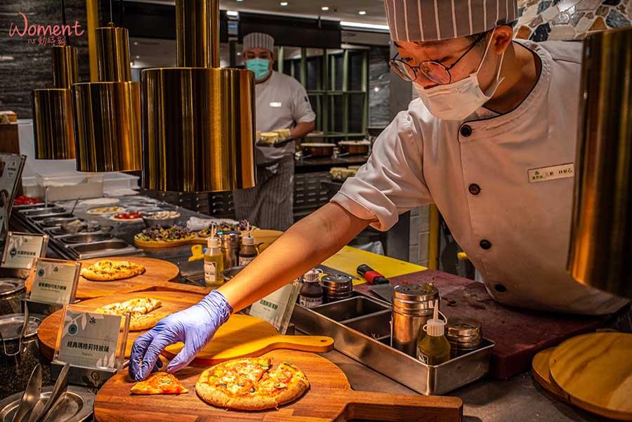 蔬食素食餐廳-吃到飽推薦果然匯 - 披薩取用櫃檯