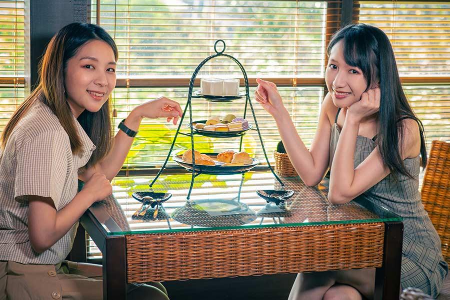 北投下午茶咖啡廳推薦,少帥禪園「小六茶鋪」英式下午茶搭配天然美景溫泉,戶外足湯、景觀湯屋超享受