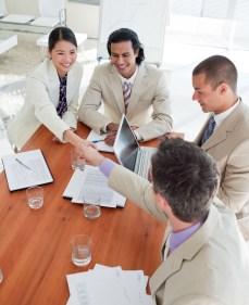 Business Partners Closing a Deal