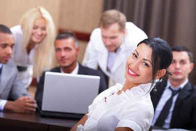 Woman leader team   Woman in Business   Confidence
