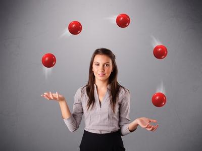 Businesswoman Juggling