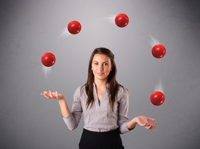 Businesswoman Juggling