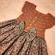 комбинированное детское платье