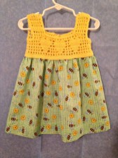 платье из ткани а кокетка крючком