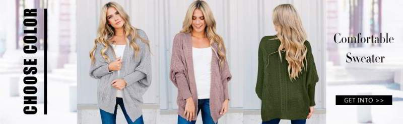 Astylish Women Open up Entrance Long Sleeve Chunky Knit Cardigan