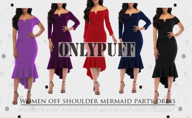 OnlyPuff Fishtail Cocktail Dress