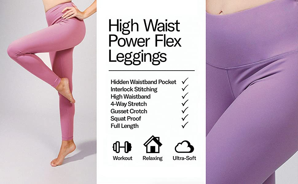 90 Degree by Reflex High Waist Power Flex Tummy Control Leggings 3