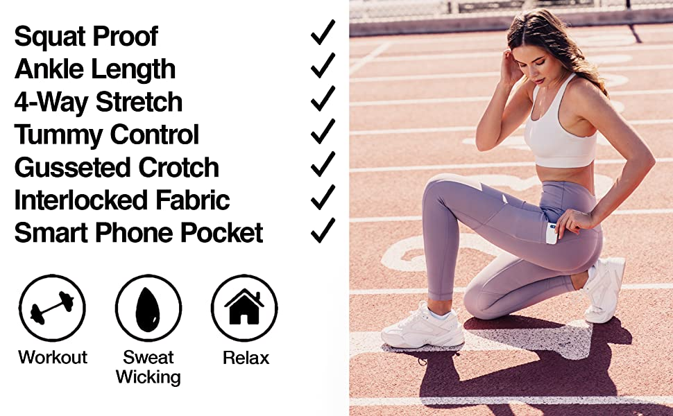 90 Degree by Reflex High Waist Tummy Control Squat Proof Ankle Length Leggings for Women 2