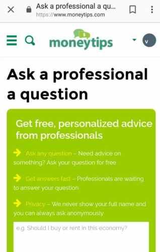 MoneyTips Ask The Professionals