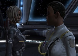 SWTOR: Cipher Nine encourages Ensign Temple to take matters into her own hands.