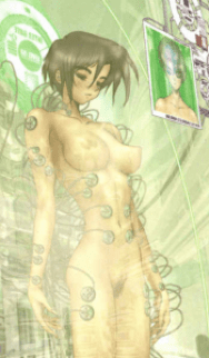 holy shit pubes, Ghost in the Shell 2: man-machine interface manga comic, Young Magazine, Dark Horse Comics, 1991 -- 2003