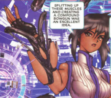 pasteurised exposition, Ghost in the Shell 2: man-machine interface manga comic, Young Magazine, Dark Horse Comics, 1991 -- 2003