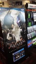 Batman game poster at GameStop