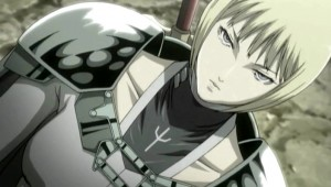 Clare and her Claymore symbol in the anime Claymore (2007).