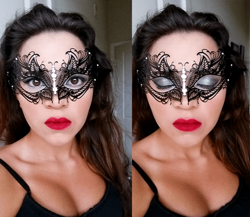 Eye Makeup With Masquerade Mask