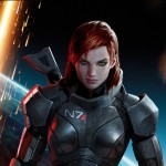 Mass Effect 3, BioWare, Electronic Arts, 2012. A redheaded woman in a grey spacesuit looks out at the camera.