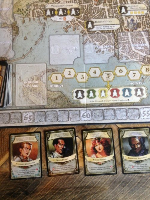 photo by Anna Tschetter Dice Vice Lords of Waterdeep Designed by: Peter Lee, Rodney Thompson Players: 2-5 Published by: Wizards of the Coast Year Published: 2012 Recommended Ages: 12+