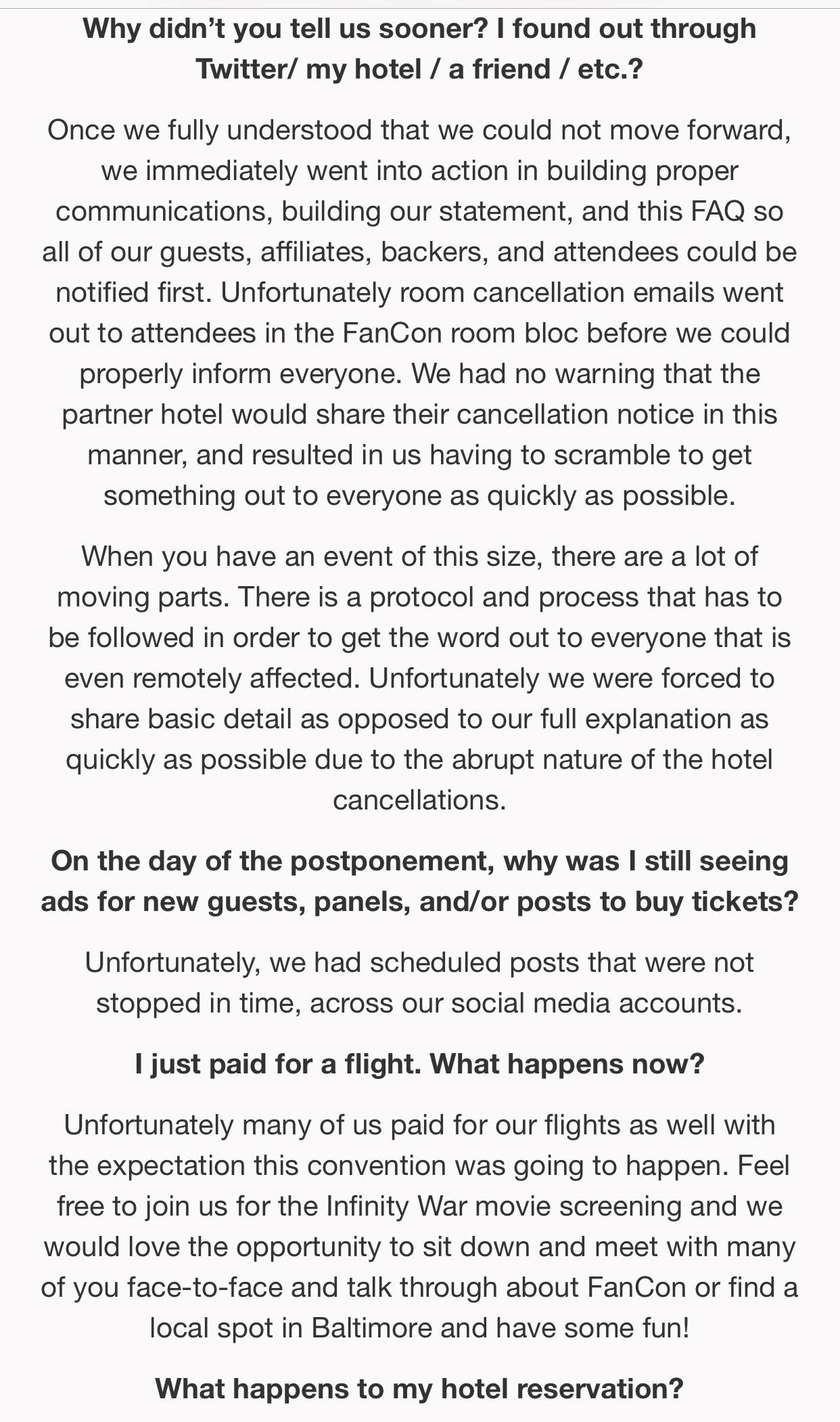 Version Two (Updated Faq On Universal Fan Con's Website):