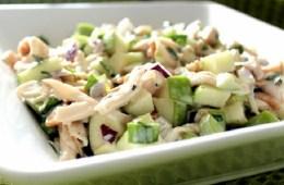 yeşil elmalı tavuk salatası