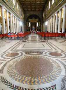 Rom 8 - Santa Maria Maggiore 3 Bodenmosaik