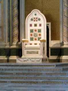 Rom 9 - Lateranbasilika 14 der Heilige Stuhl in Laterano