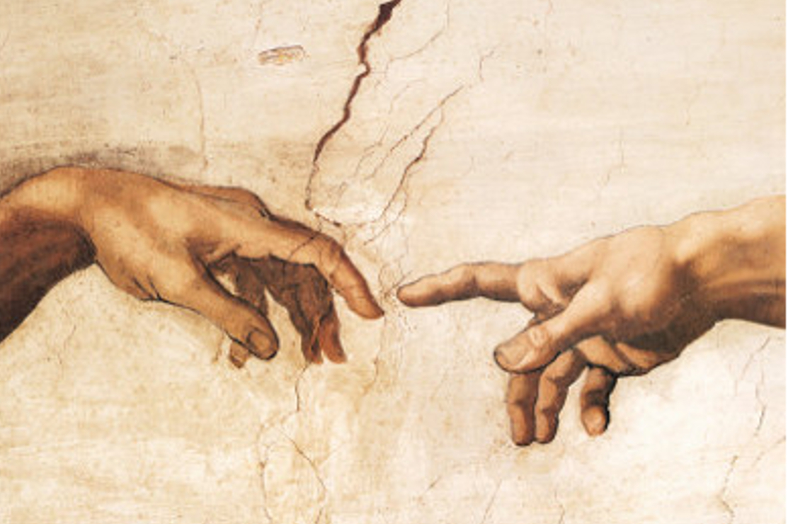 Hands from Creation of Adam , Sistine Chapel