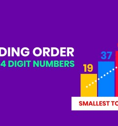 Ascending order for kids   How to arrange numbers in Increasing order    CBSE Grade 2 and Grade 3 - Woncept [ 720 x 1280 Pixel ]