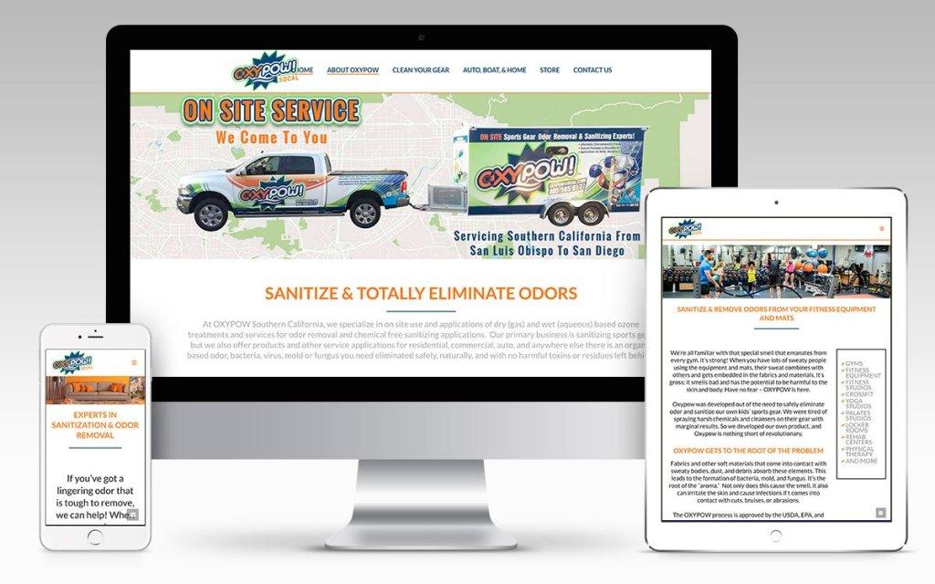 Web Design Portfolio - Oxypow Southern California
