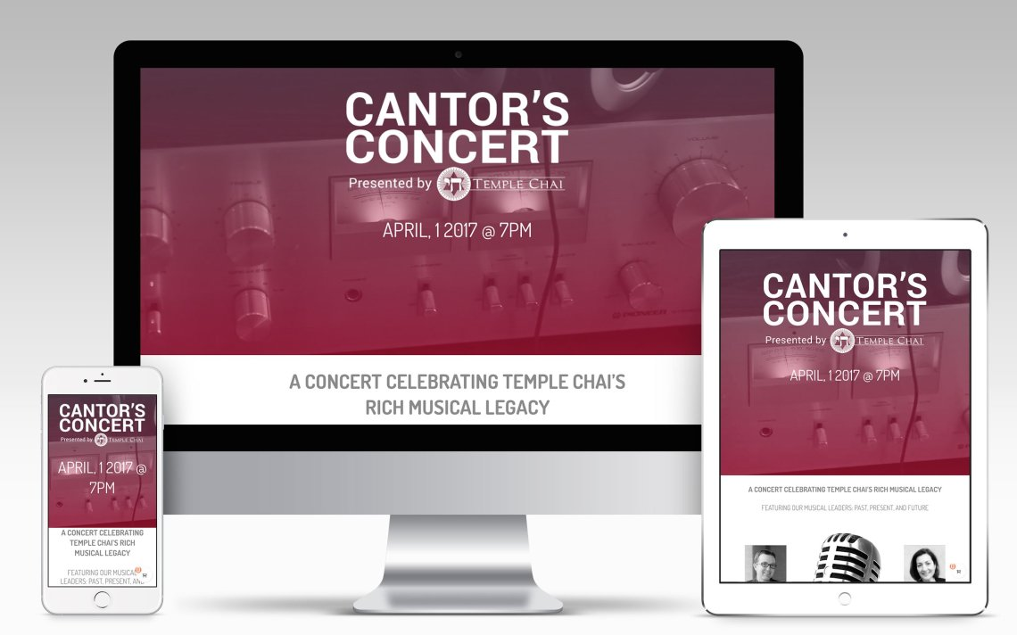 Temple Chai Cantor's Concert Website