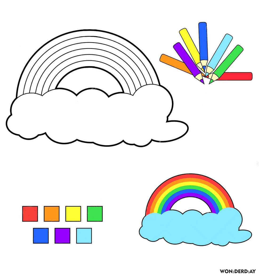 Malvorlagen Regenbogen Am Himmel