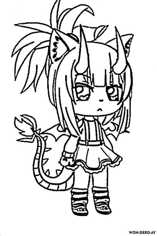 Coloring Pages Gacha Life. Big collection. Print for free