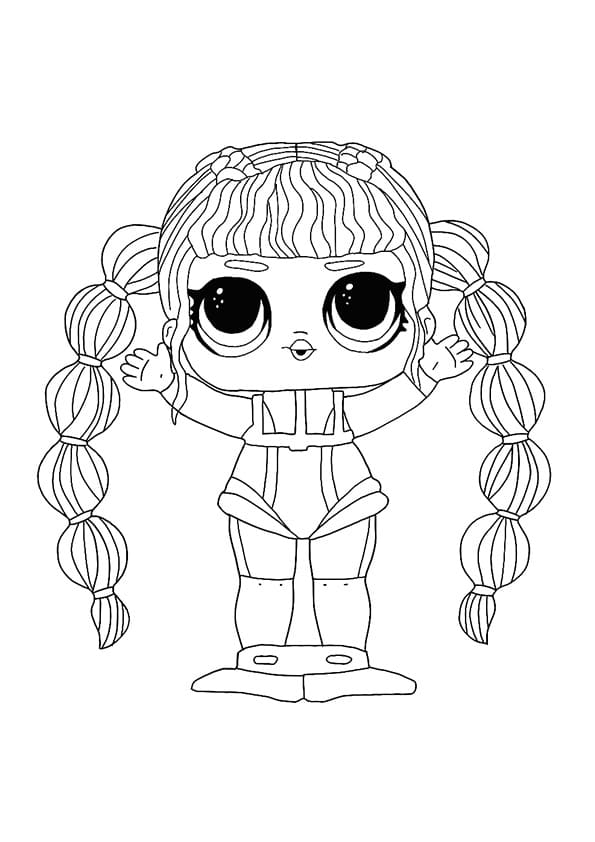 Lol Surprise Dolls Coloring Pages Print In A4 Format New 2020