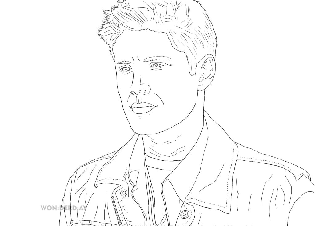 Coloring Pages Supernatural. Best collection, Print A4
