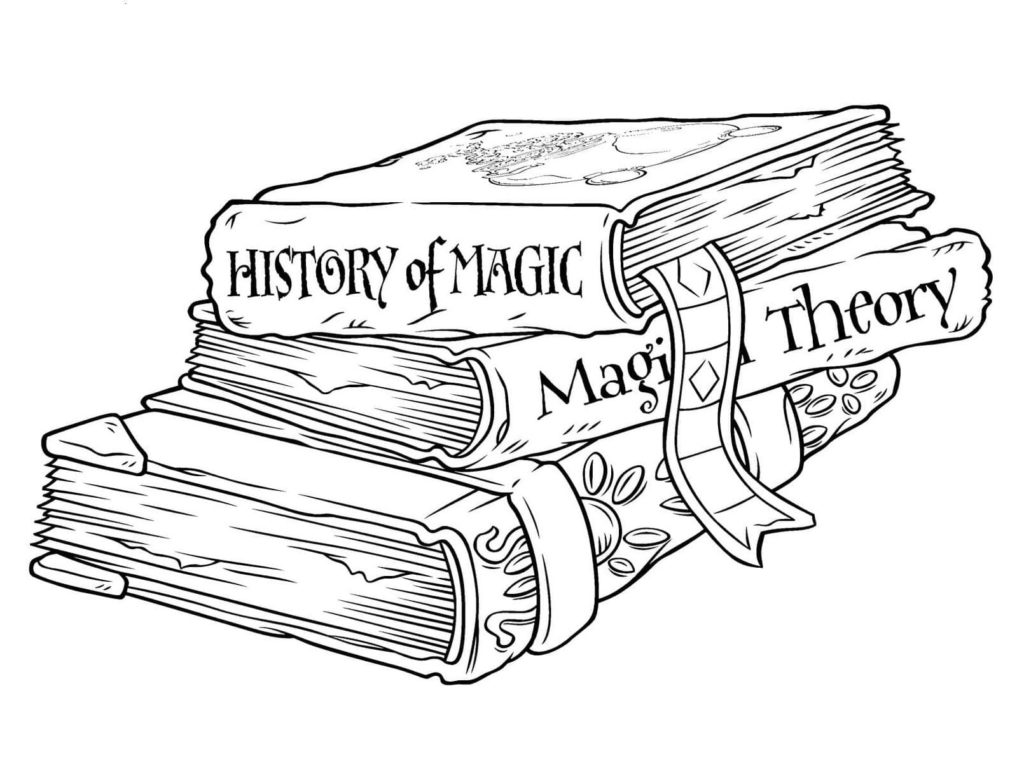 Coloring pages Harry Potter (150 pieces). Print A4