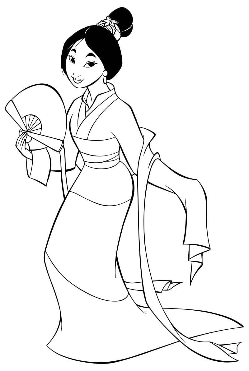 Mulan Coloring Pages. Print Disney Princess for Free