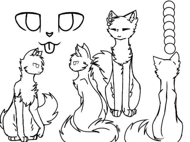Warriors Cats Coloring pages. 6 Free printable Coloring Pages
