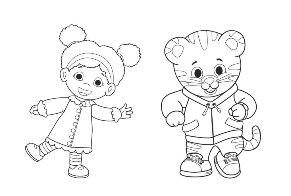 Daniel Tiger's Neighborhood Coloring Pages. Print A4
