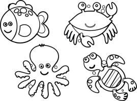 Kostenlose Ausmalbilder Unterwasserwelt — Meerestiere für ...