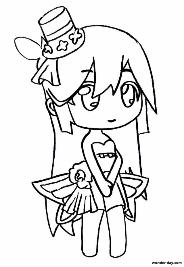 Coloring Pages Gacha Life. Print for free  WONDER DAY — Coloring