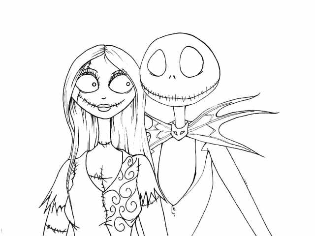 Nightmare Before Christmas Coloring Pages. Download and Print