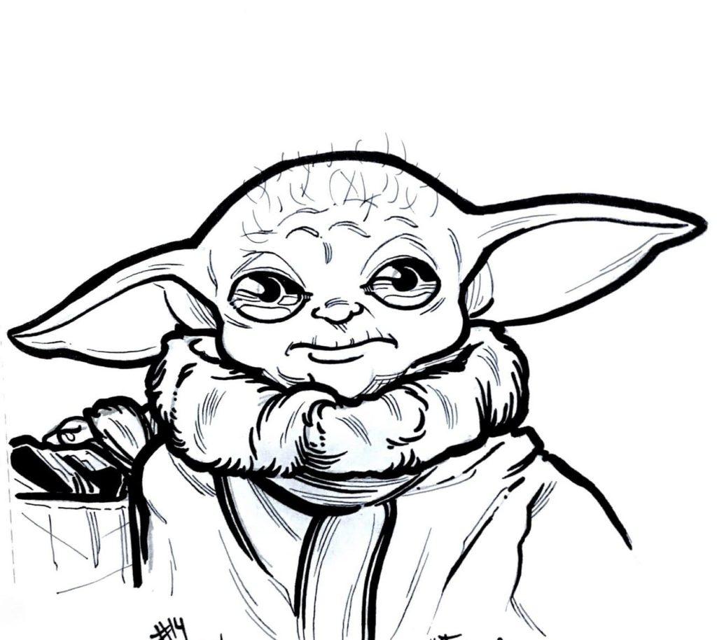 Baby Yoda Ausmalbilder Kostenlos drucken WONDER DAY