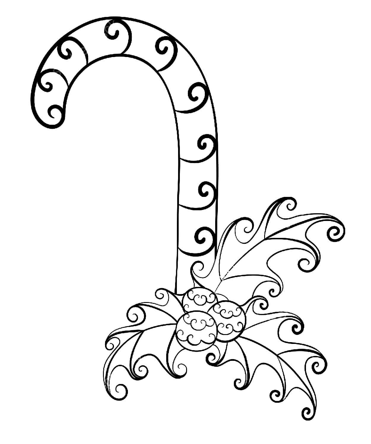 Candy Cane Coloring Pages. Free Printable Coloring Pages