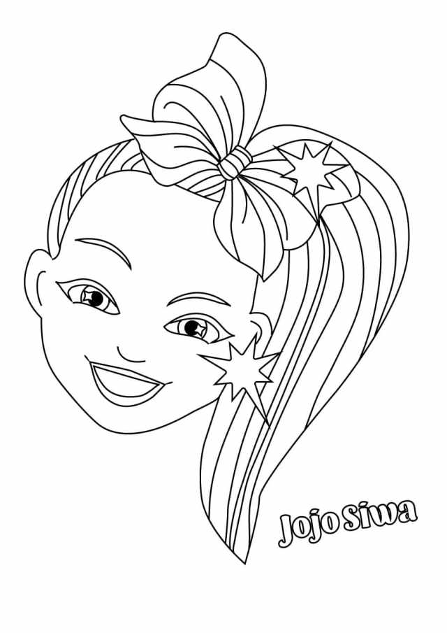 Coloring Pages Jojo Siwa. Download and print for free